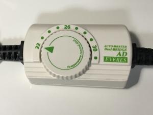 ヒーターの温度設定ダイアル