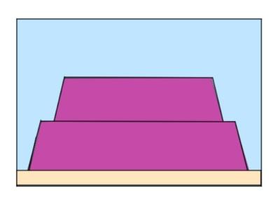 ライブロックレイアウト例、ひな壇レイアウト