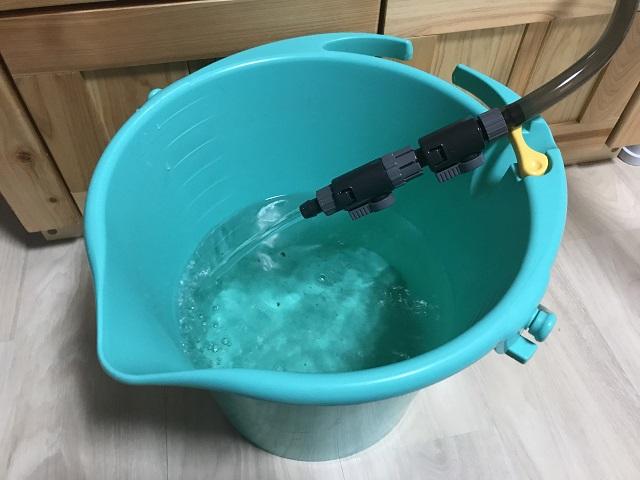 排水ホースからの排水