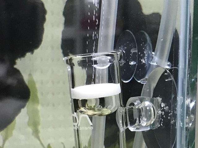 CO2拡散器から出るCO2