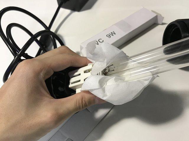 ターボツイストZ 殺菌灯本体の差し込み
