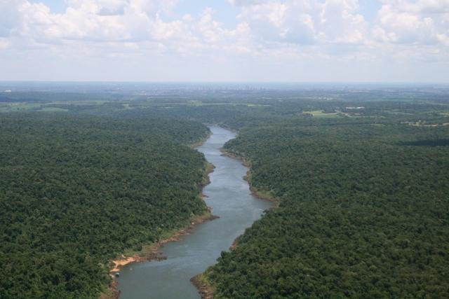 アマゾン川上空