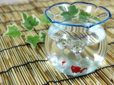 金魚鉢のガラス細工