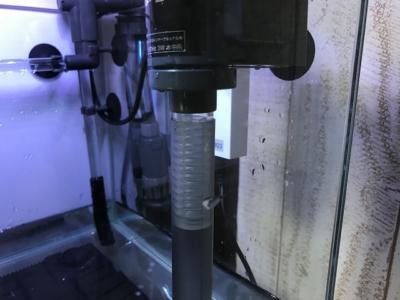 メガパワー2045と底面フィルターの接続部