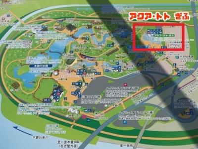 河川環境楽園の地図(アクア・トトぎふフォーカス)