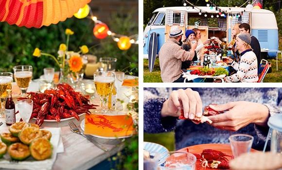スウェーデンのザリガニパーティ