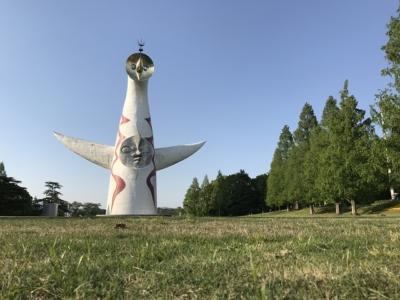 万博記念公園の像