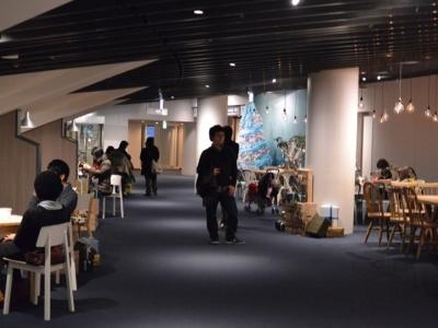 京都水族館の休憩スペース