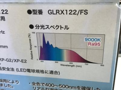 グラッシーレディオRX122フレッシュのスペクトル