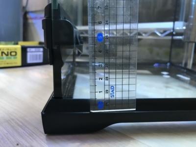 グラステラリウムの水張り可能な深さ