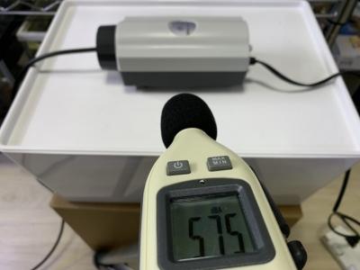 「水作の水心7S」の騒音計で音量測定