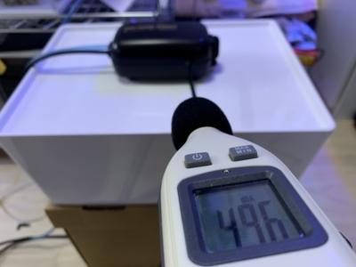「ノンノイズ W1000」通常時の音量49.6dB