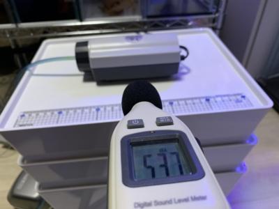 エアーポンプ「キョーリンC-8000」の騒音チェック時の比較用測定(水作2S)