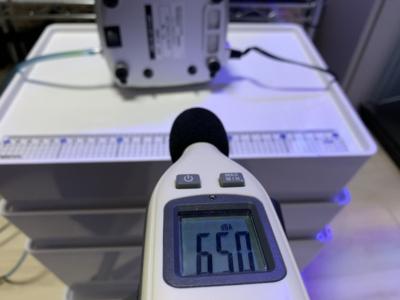 エアーポンプ「キョーリンC-8000」の騒音チェック、共振時