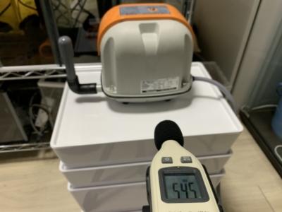 ブロワー「安永 AP-40」、動作音の測定