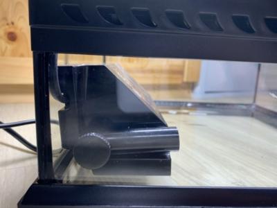 グラステラリウム 3030、水作スペースパワーフィットPROを置いた様子(フロントから)