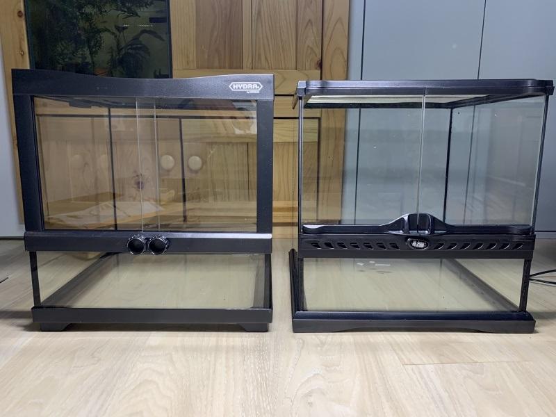 ヒュドラケース3133とグラステラリウム3030の比較