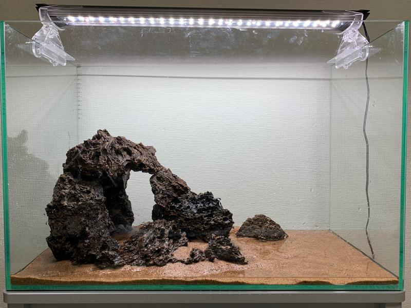 完成した石組水槽